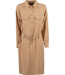 federica tosi belted mid-length dress