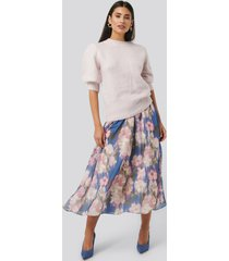 na-kd flowy chiffon skirt - multicolor