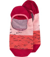 marcoliani printed slip-on socks - red