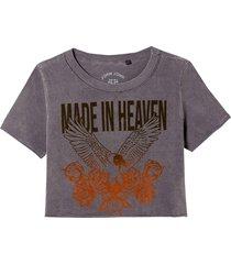 camiseta john john eagle mih malha algodão cinza feminina (cinza medio, gg)