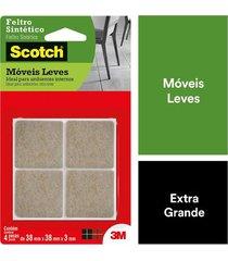 feltro adesivo 3m scotch quadrado g com 12 marrom 0,5x10,3x18,2cm