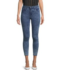 l'agence women's high-rise textured skinny-fit jeans - dark acid - size 26 (2-4)