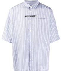givenchy vertical-stripe short-sleeve shirt - blue