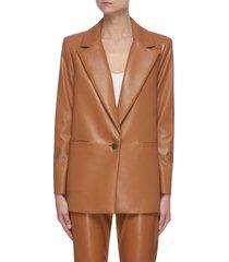 'dunn' vegan leather blazer