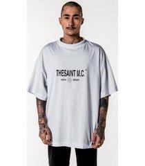 t-shirt thesaint oversized branca genesis ii - gg - unissex
