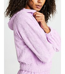 river island womens purple ri logo zip front hoodie