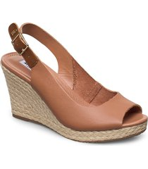 kicks 2 sandalette med klack espadrilles brun dune london