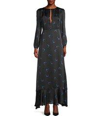 cherry-print ruffled dress
