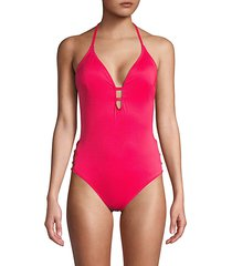 strappy side one-piece swimsuit