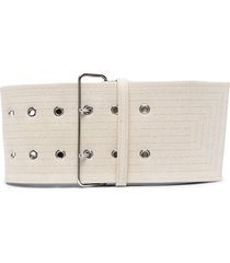 jil sander wide cotton belt - neutrals