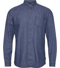 shirts woven skjorta casual blå edc by esprit