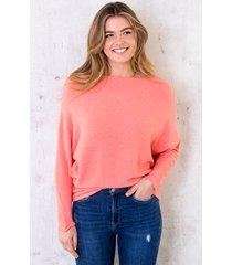 oversized soft trui koraal oranje