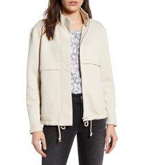 women's bb dakota day by day knit jacket, size medium - ivory