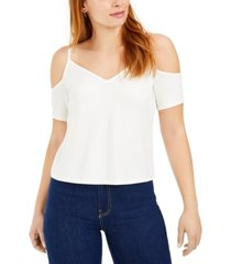 bar iii cold-shoulder short-sleeve top, created for macy's