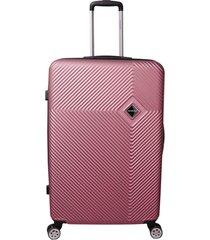 mala de bordo padrão anac em abs - santino - 19 polegadas  rosa