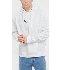 karl kani kk signature hoodie tröjor vit/svart