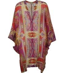 pattern print robe