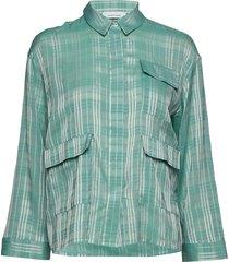 ilona shirt 10866 overhemd met lange mouwen groen samsøe & samsøe
