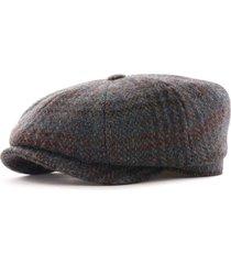 stetson hats hatteras harris tweed flat cap | multi | 6840511-352