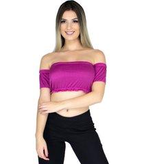 top cropped bravaa modas ciganinha faixa rosa 103