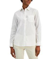 weekend max mara arpa button-down cotton shirt