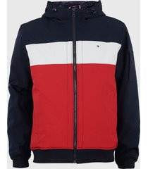 chaqueta tommy hilfiger multicolor - calce regular