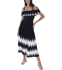 allison new york women's zigzag dress