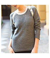 alpaca blend sweater, 'andean gray' (peru)