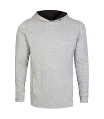 camisetas khelf camiseta masculina piquet mescla botonê cinza