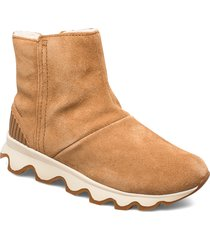 kinetic short shoes boots ankle boots ankle boots flat heel brun sorel