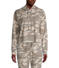 knit riot women's camo hoodie - oatmeal camouflage - size l