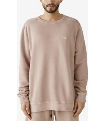 true religion men's fleece crewneck sweatshirt