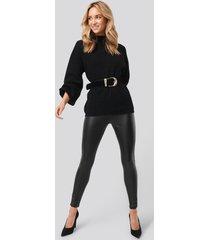 trendyol faux leather leggings - black