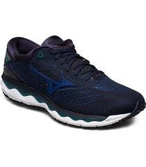 wave sky 3 shoes sport shoes running shoes blå mizuno