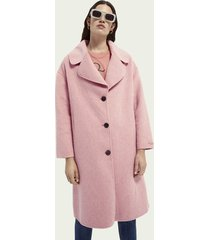 scotch & soda wool blend unlined coat