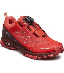 anaconda light boa gtx shoes sport shoes running shoes röd viking