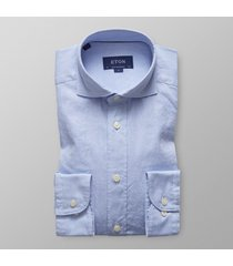 eton heren overhemd royal oxford licht extra cutaway contemporary fit