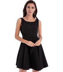 vestido clásico lazo negro nicopoly