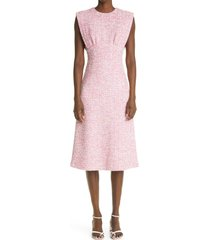 st. john collection sleeveless boucle tweed dress, size 2 in ceru cerise multi at nordstrom