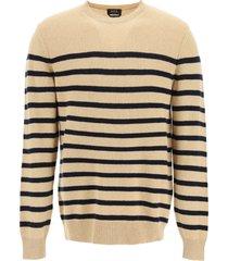 a.p.c. travis striped sweater
