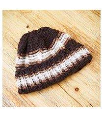men's 100% alpaca hat, 'huascaran explorer' (peru)