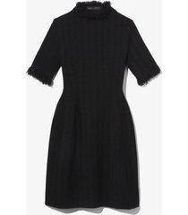 proenza schouler frayed edge sculpted dress black l