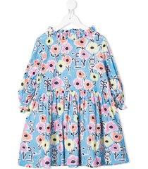 raspberry plum zsa zsa floral-print dress - blue