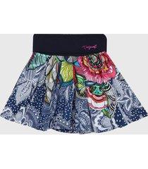 falda multicolor desigual