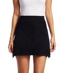 merino wool mini skirt