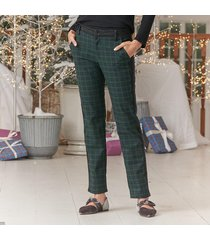dressed up plaid trousers