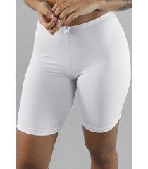 short rb moda segunda pele microfibra branco - branco - feminino - dafiti