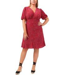 1.state trendy plus size seam floral-print dress