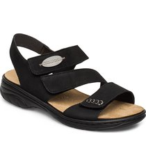 64573-00 shoes summer shoes flat sandals svart rieker