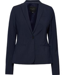 classic-fit washable italian wool-blend blazer blazer colbert blauw banana republic